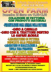 OPEN FARM APERTURA STRAORDINARIA DOMENICA 25 MARZO 10.00-13.00 @ LA PICCOLA FATTORIA DI SERMONETA
