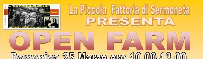 OPEN FARM APERTURA STRAORDINARIA DOMENICA 25 MARZO 10.00-13.00